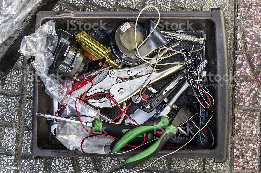 Disordered Toolbox royalty-free stock photo