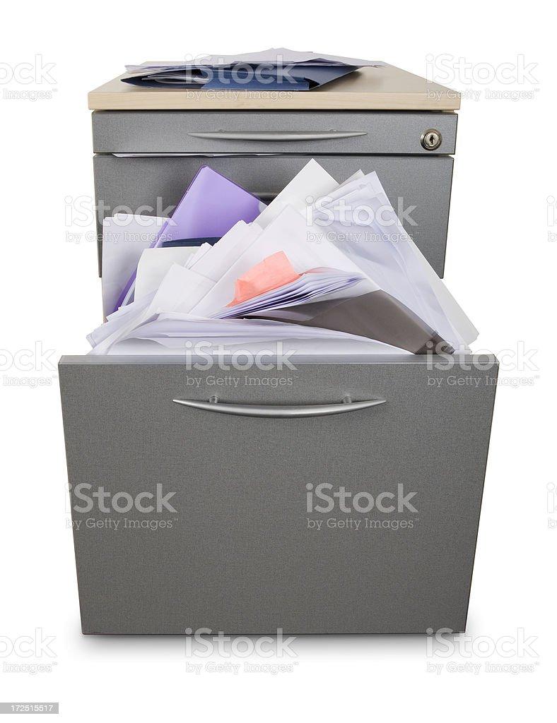 Disorganised filing system royalty-free stock photo