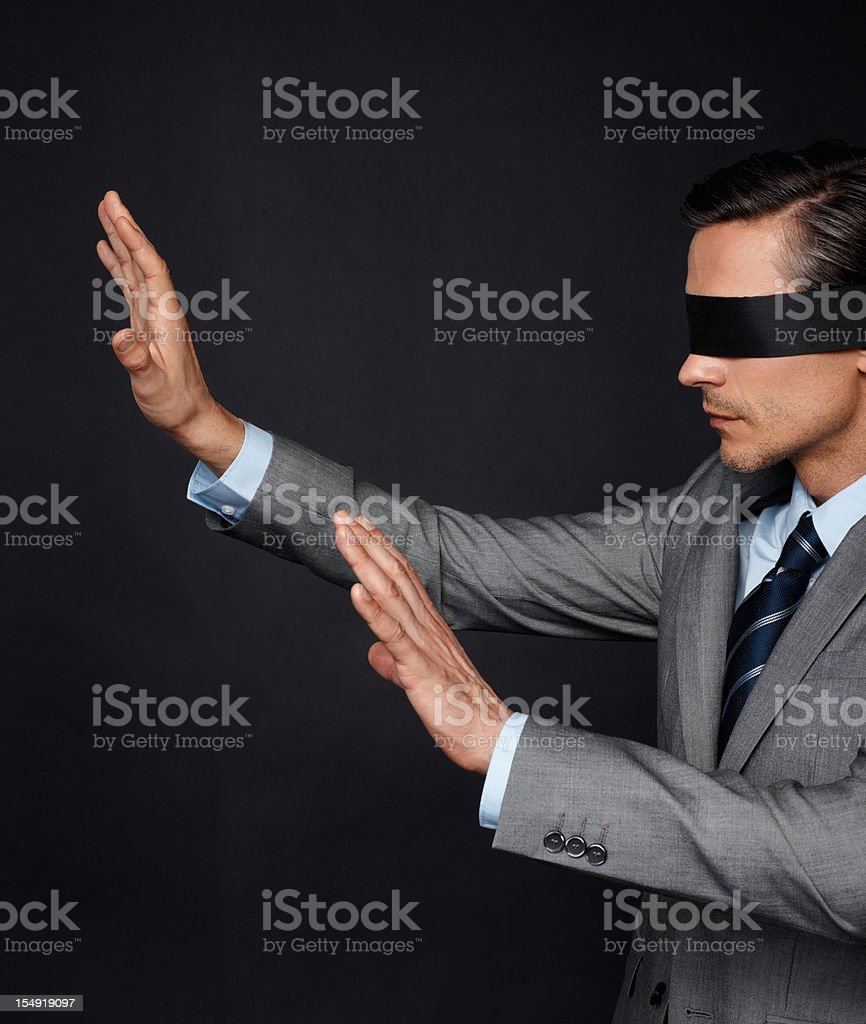 Disoriented businessman royalty-free stock photo