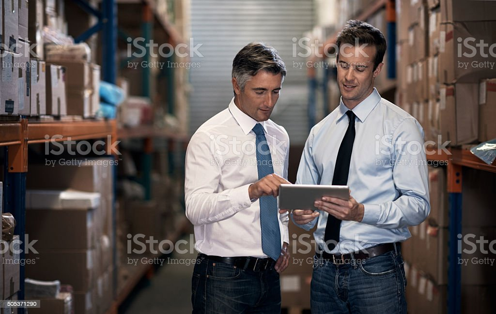 Dispatching your order stock photo