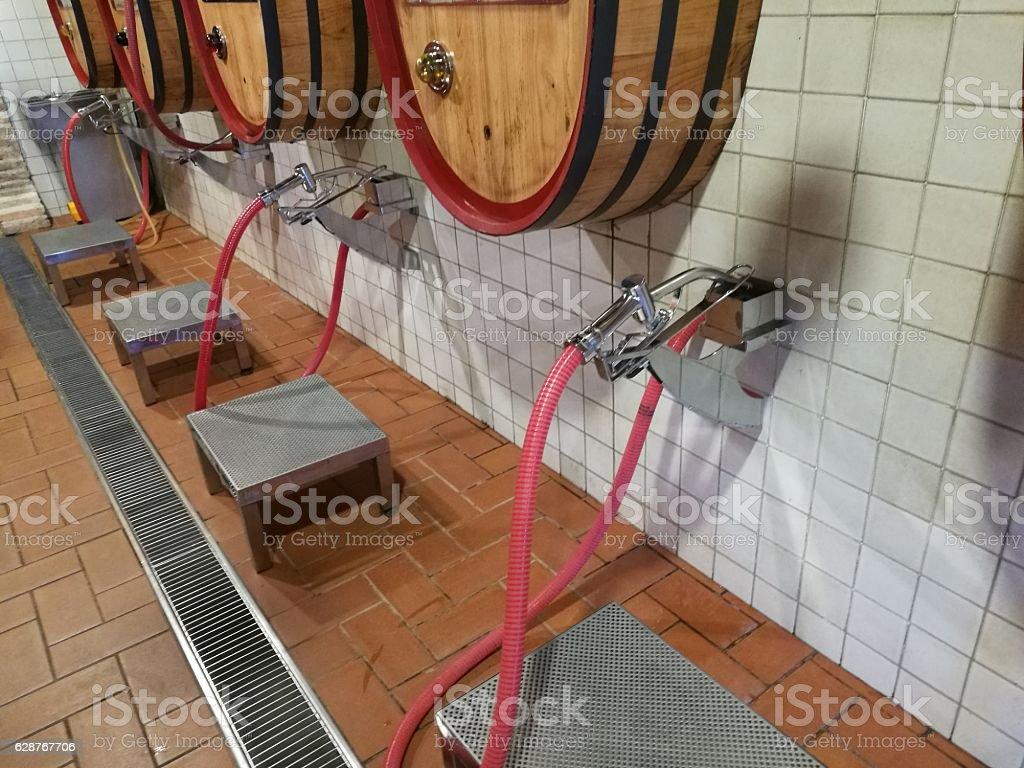 dispenser bulk wine stock photo