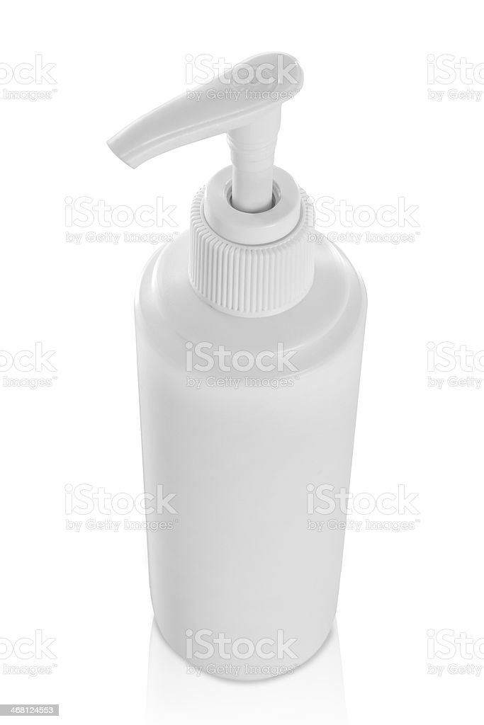 dispenser of shampoo, conditioner, and soap royalty-free stock photo