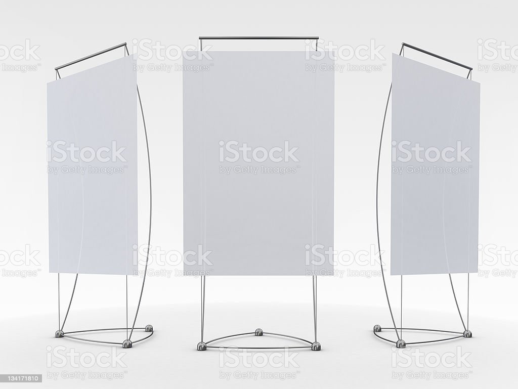 display advertising stand royalty-free stock photo