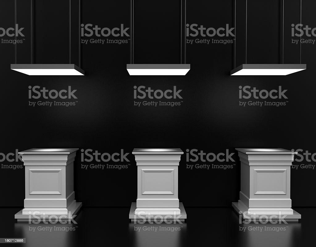 Display Columns stock photo