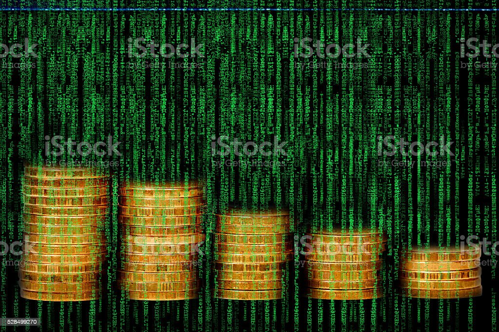 Display computer server connections flashing stock photo