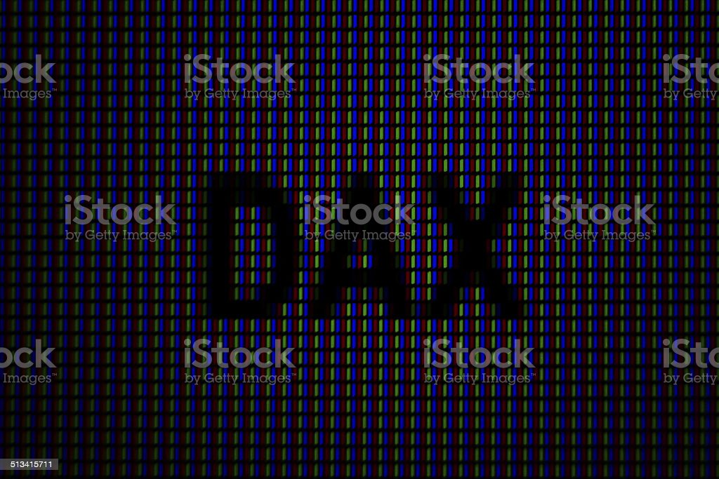 LED Display Dax stock photo