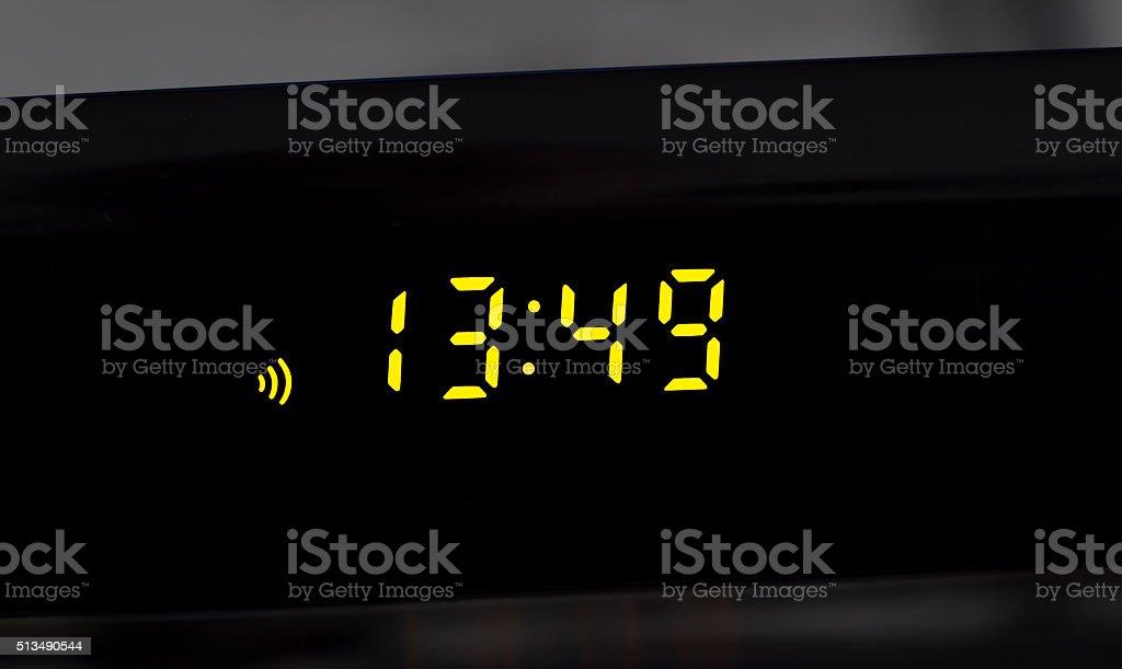 Display digital clock stock photo