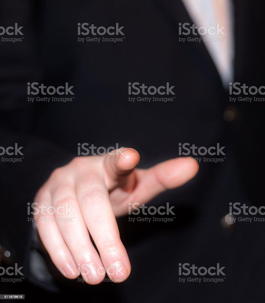 Display finger stock photo
