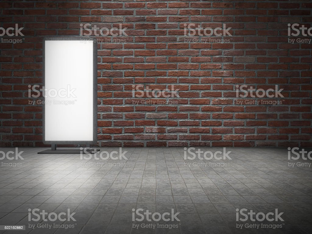 Display Light Box in front of brick wall royalty-free stock photo