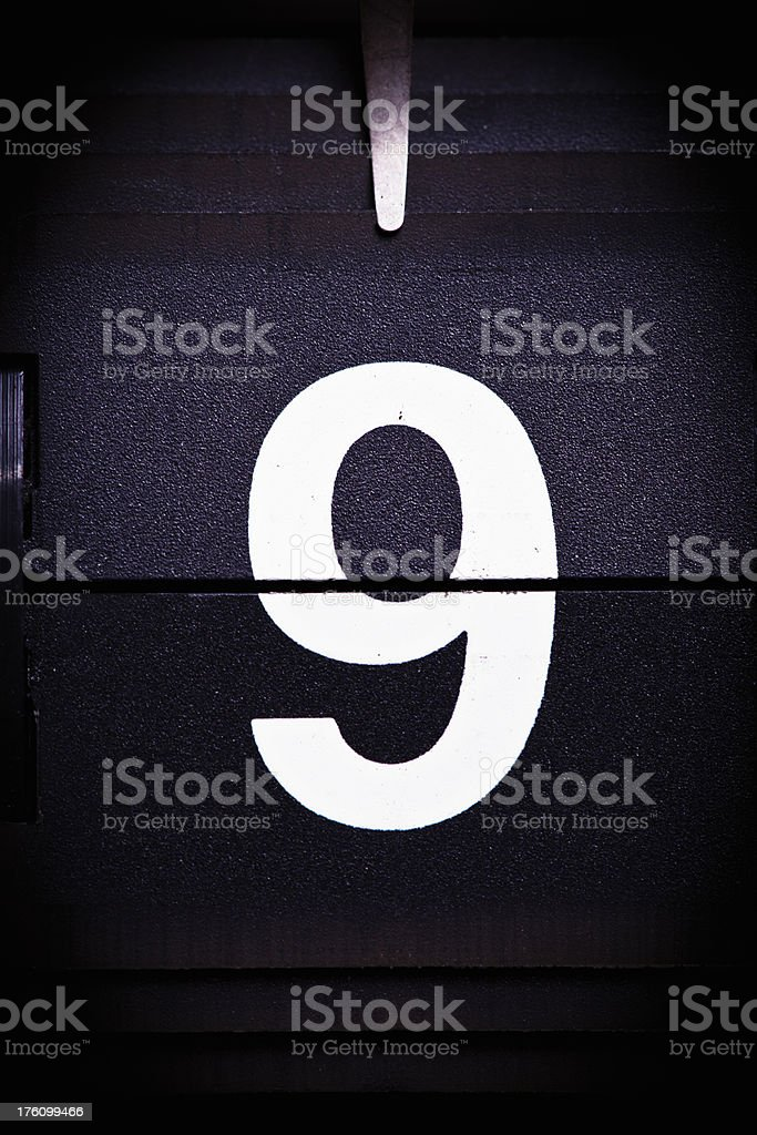 Display number 9 royalty-free stock photo