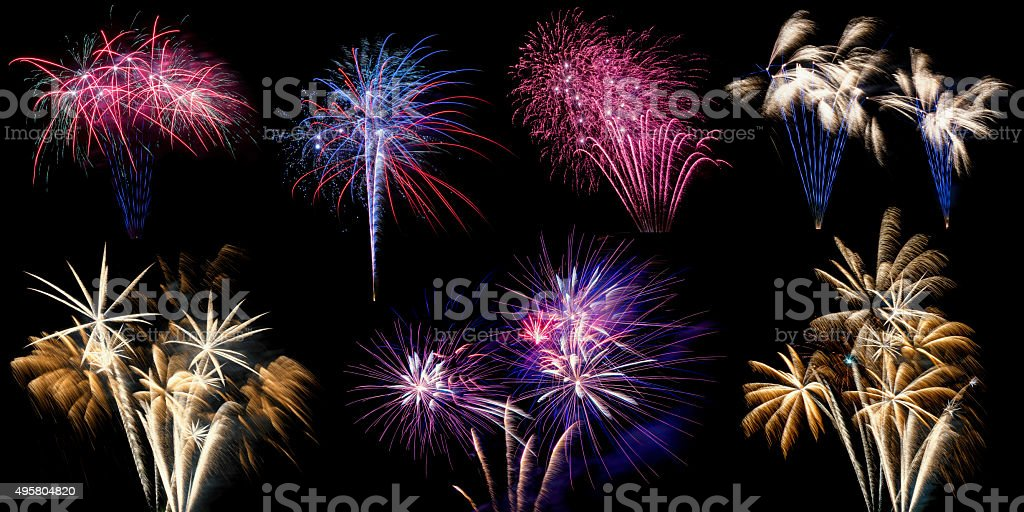 Display of different Firework stock photo