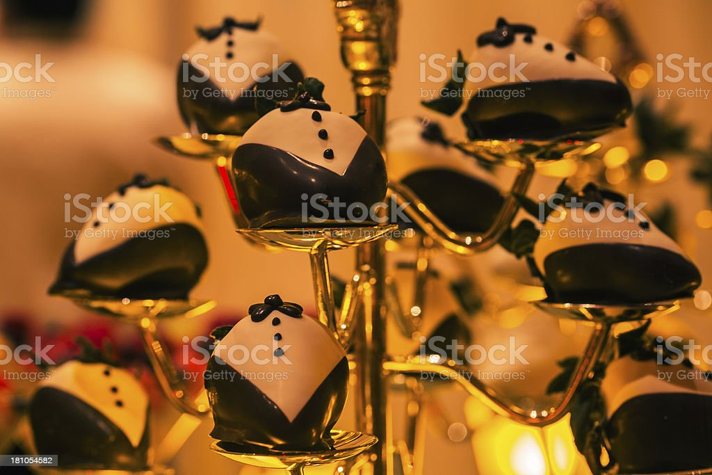 Display of elaborately decorated desserts royalty-free stock photo