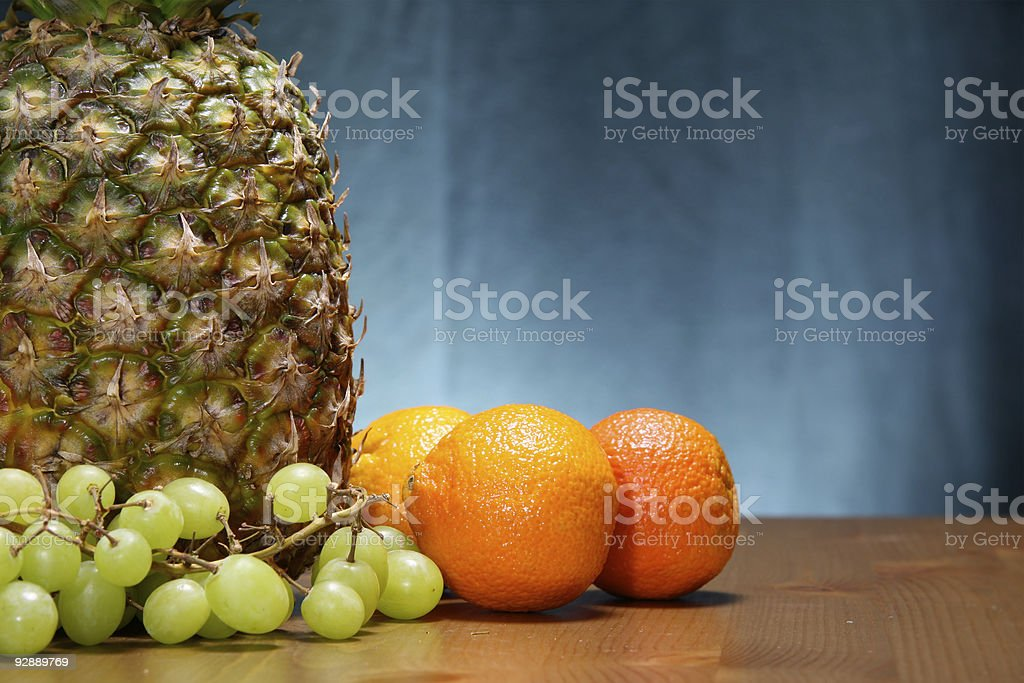 Cartaz de frutos foto de stock royalty-free