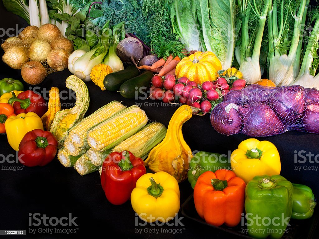 Display of Market Vegetables royalty-free stock photo