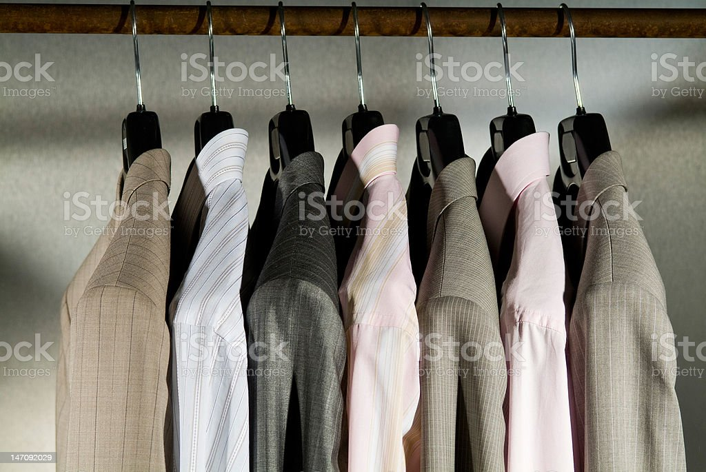 display of men business clothing royalty-free stock photo