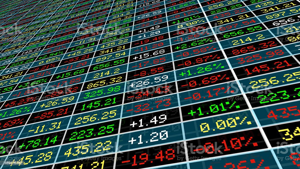Display of Stock market stock photo