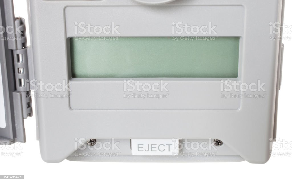 Display on a security camera stock photo