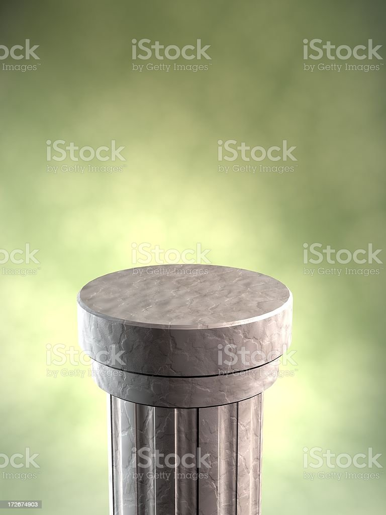 Display Pedestal stock photo
