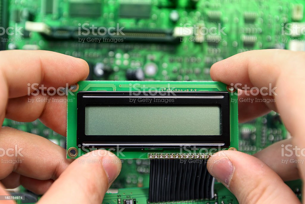 LCD Display royalty-free stock photo
