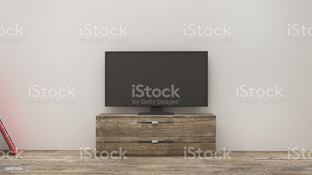 TV display stock photo