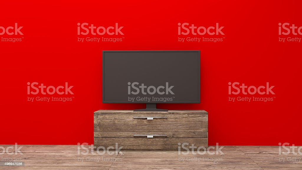 TV display stock photo