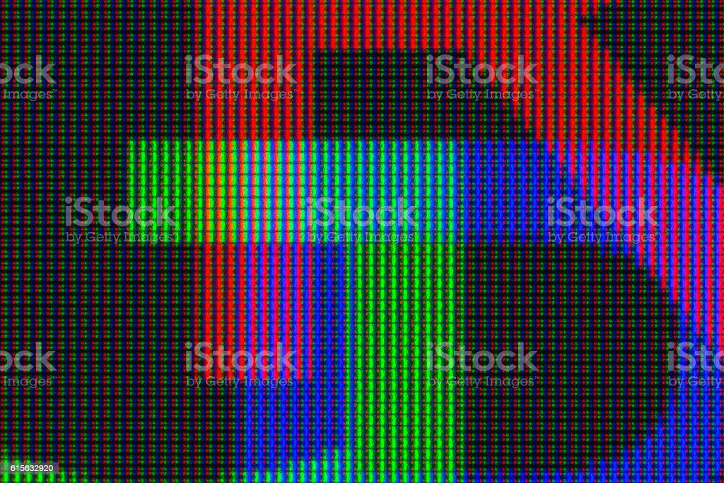 RGB display stock photo