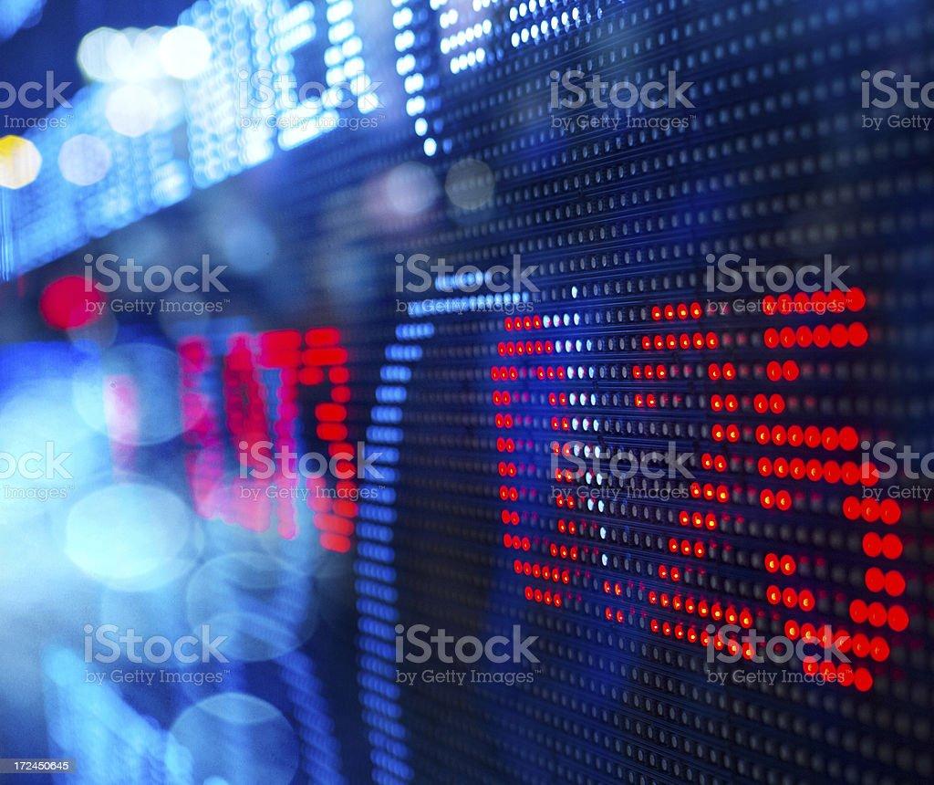display stock market charts royalty-free stock photo