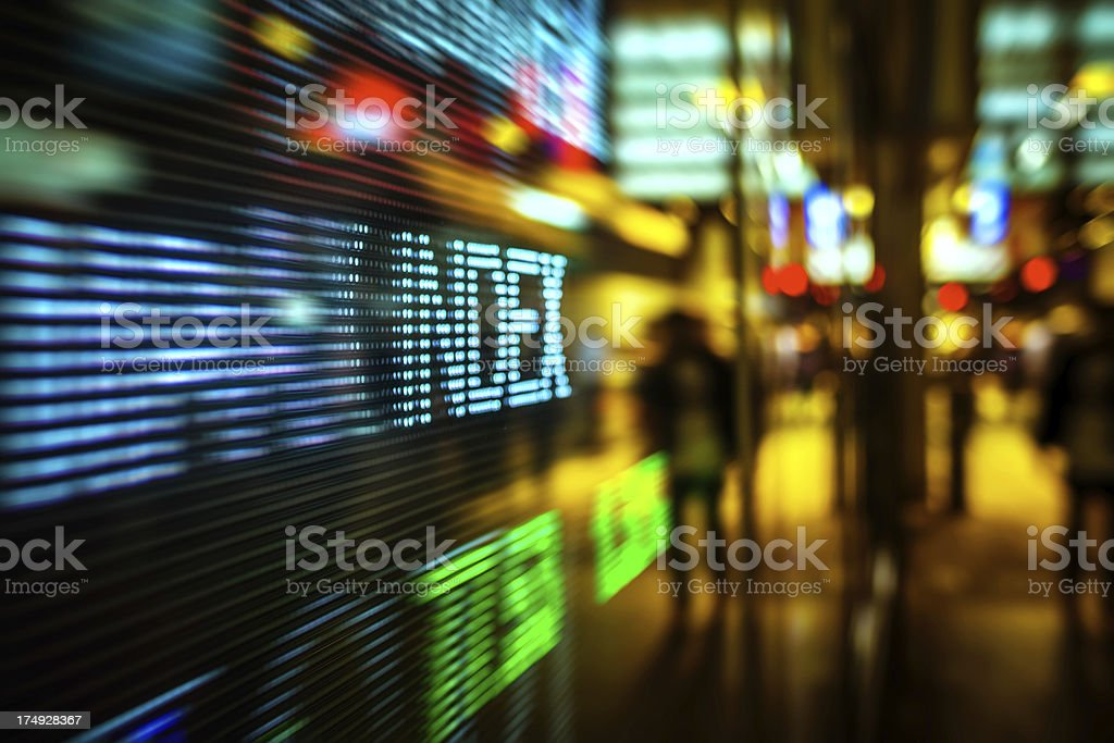 display stock market charts stock photo