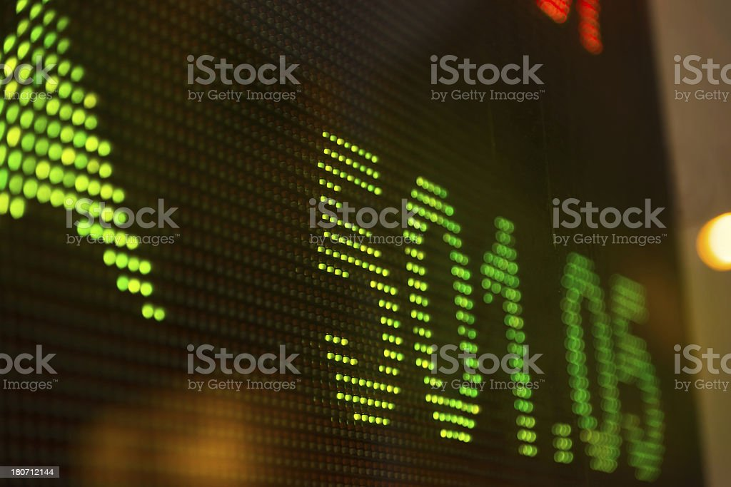 display stock market charts royalty-free stock photo