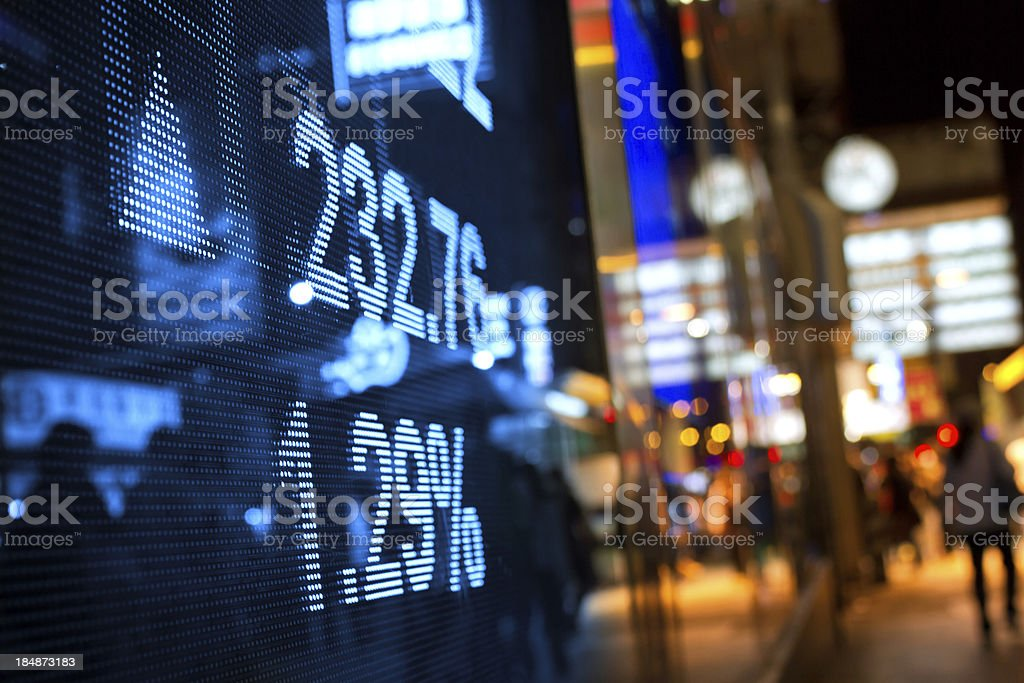 display stock market charts stock photo