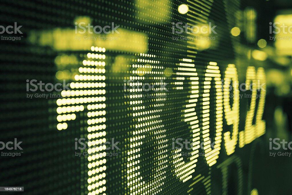 display stock market data royalty-free stock photo