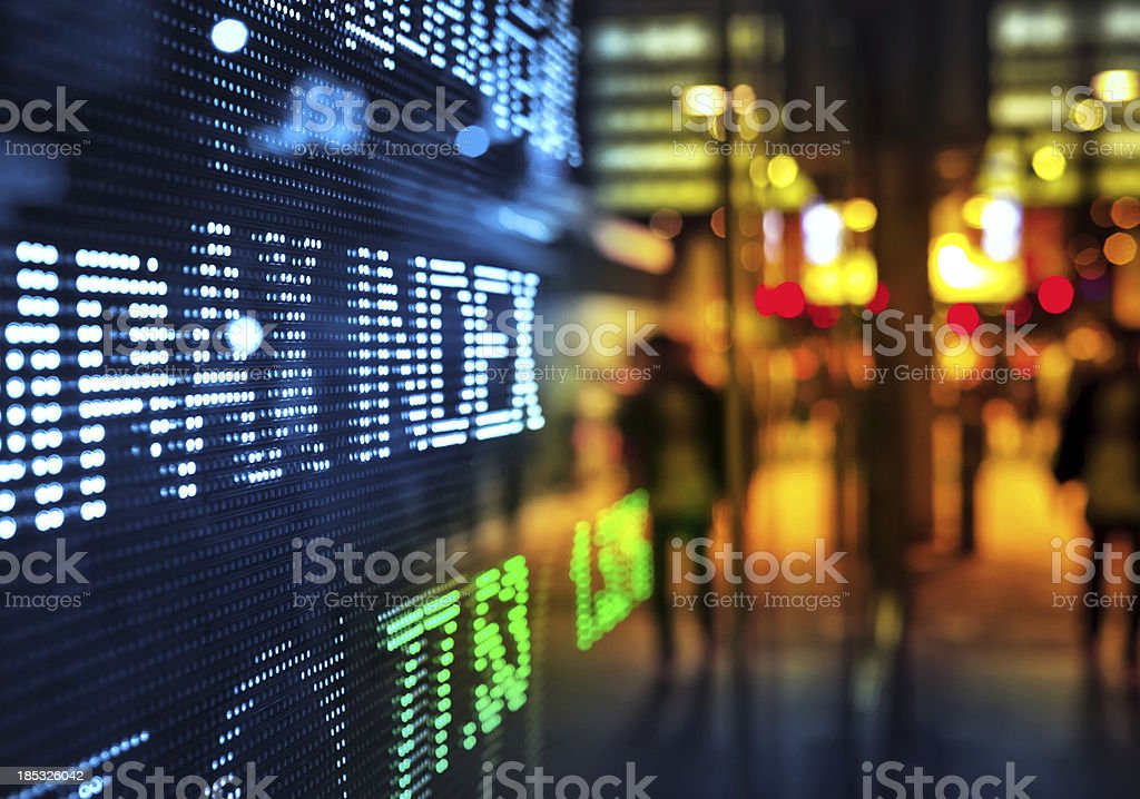 display stock market data stock photo