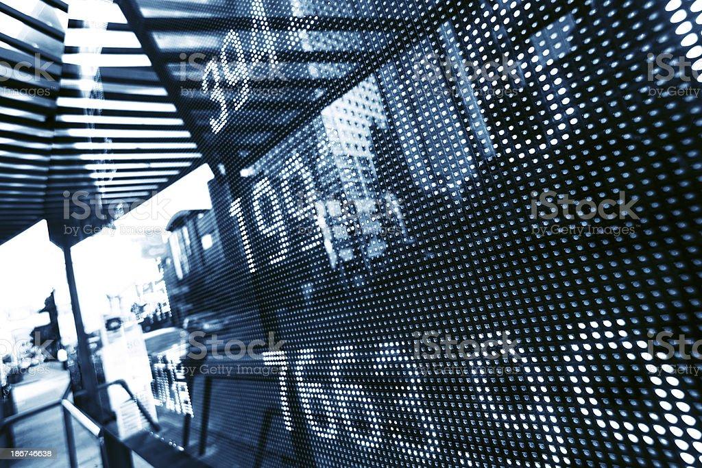 display stock market data stock photo