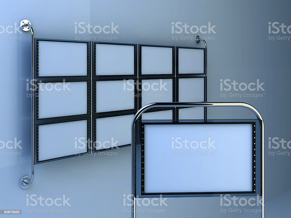 LCD display template royalty-free stock photo