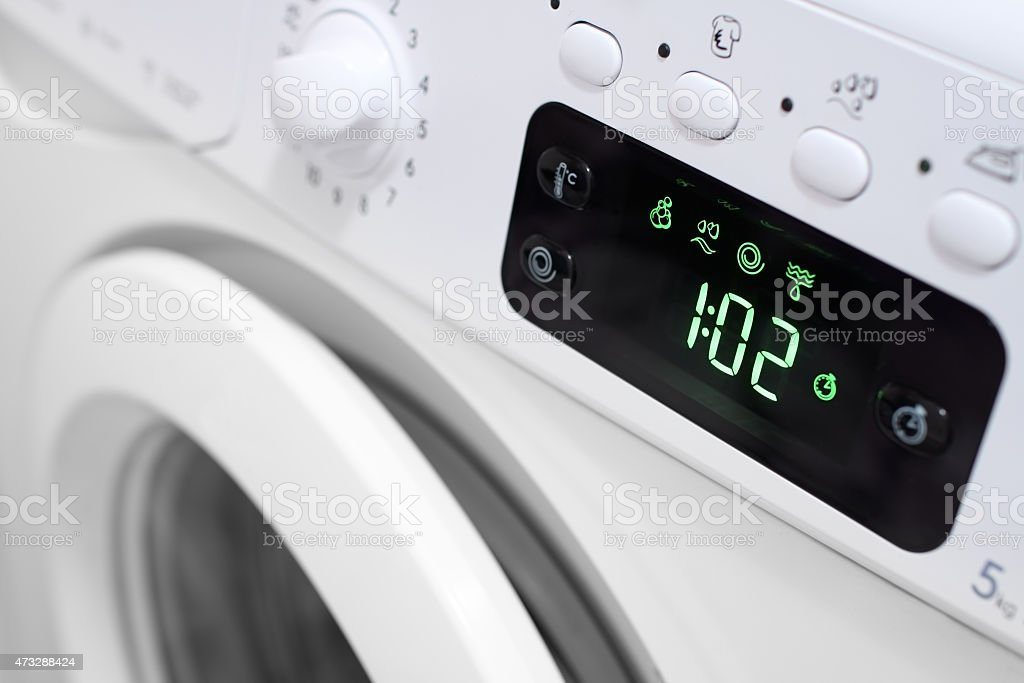 Display washing machine. stock photo