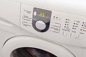 Display washing machine.