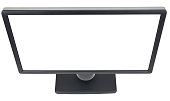 Display with white blank screen, top view