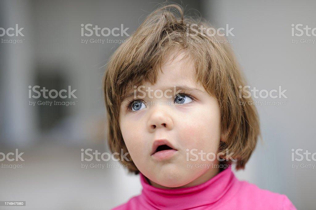 displeased girl portrait royalty-free stock photo