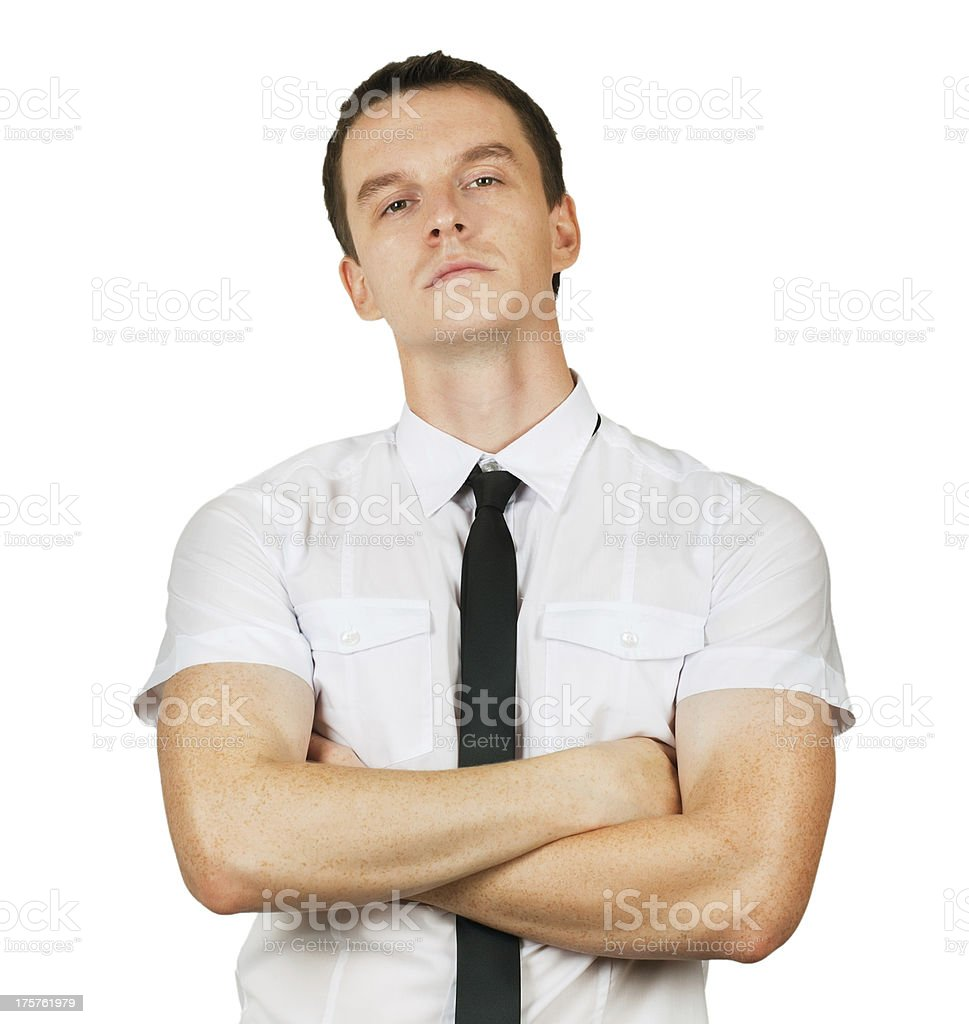displeased manager stock photo