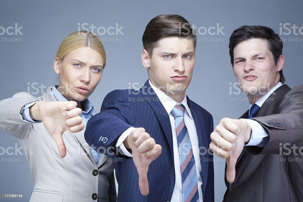 Displeasure stock photo