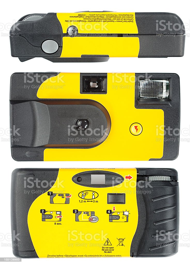 Disposable Camera (Clipping paths) stock photo