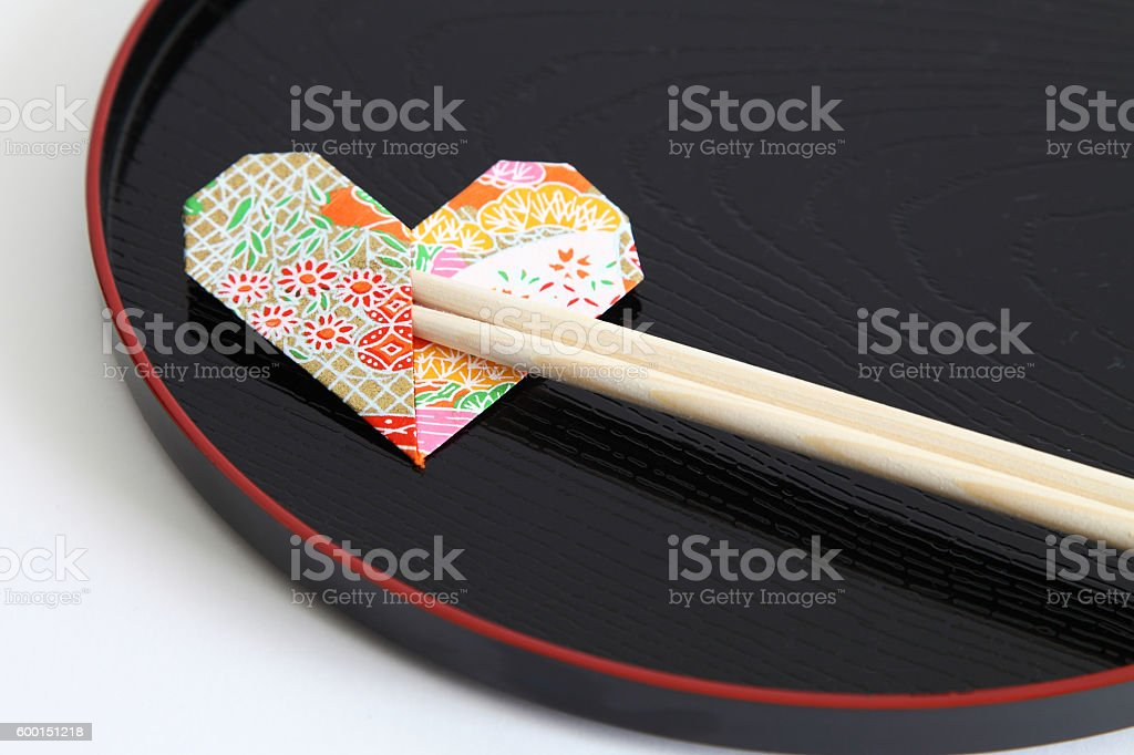 Disposable Chopsticks for Celebration stock photo