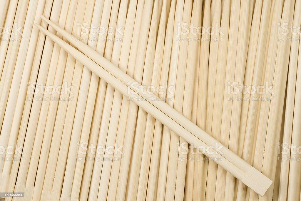 Disposable chopsticks royalty-free stock photo