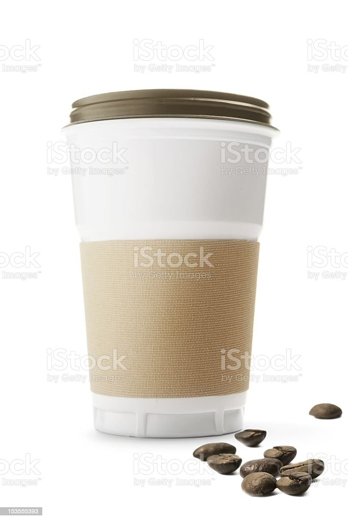 Disposable coffee cup royalty-free stock photo