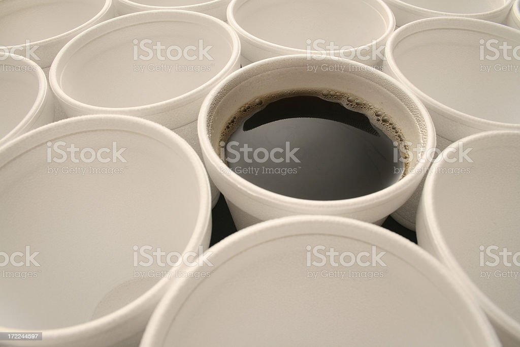 Disposable coffee royalty-free stock photo