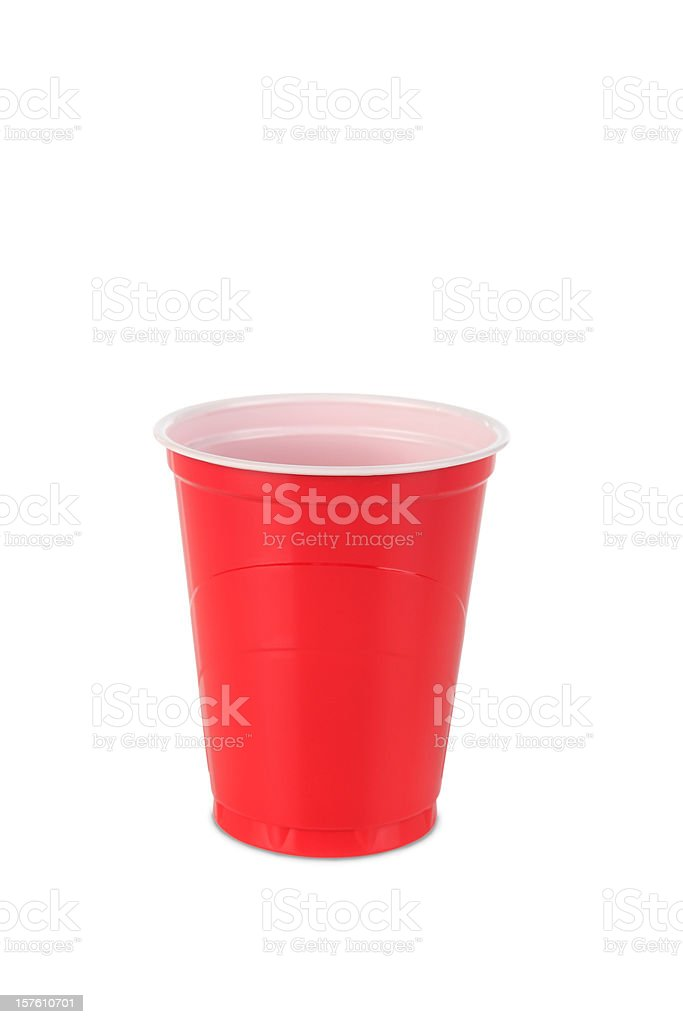 Disposable Cup Isolated On White stock photo