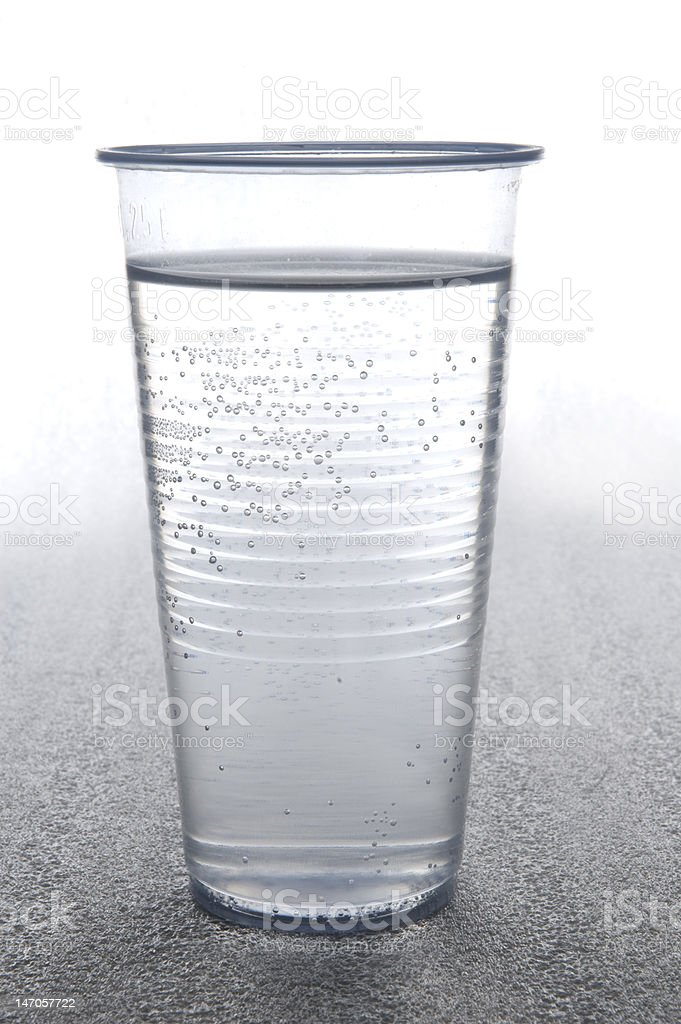 disposable cup of water royalty-free stock photo