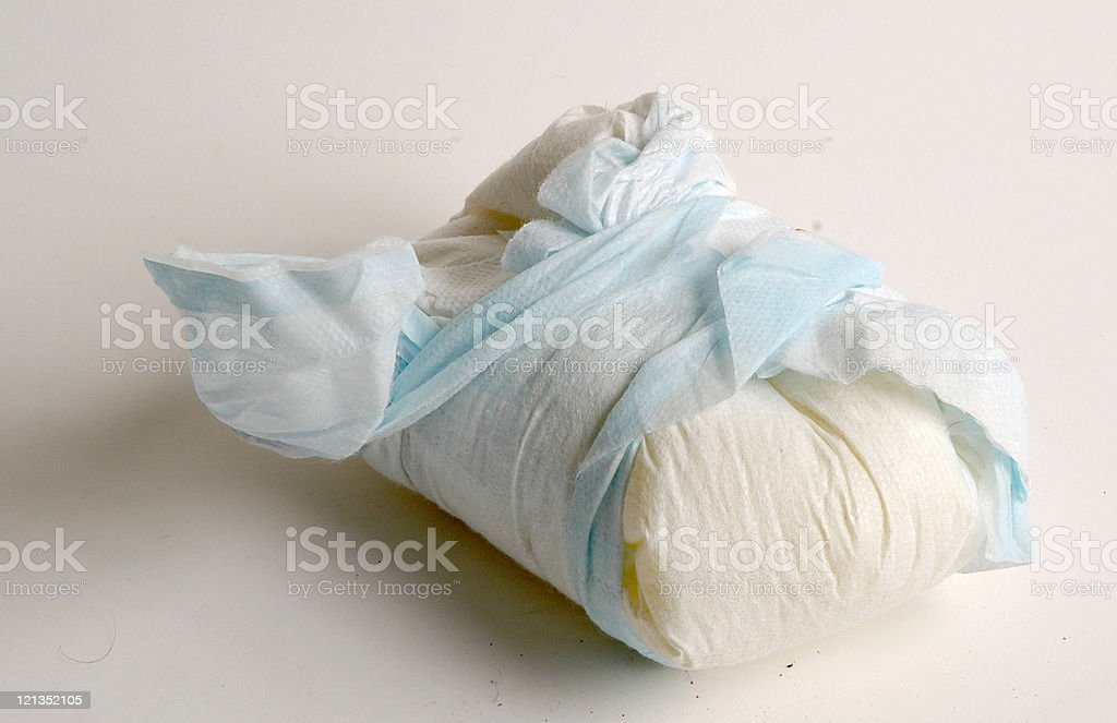 Disposable Dirty Diaper stock photo