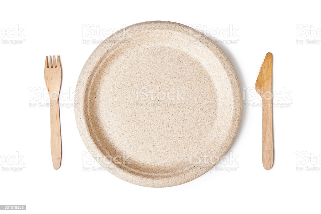 disposable dishes stock photo