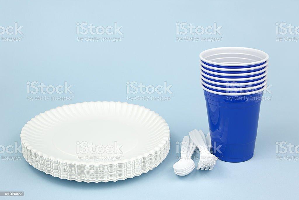 Disposable Dishware stock photo